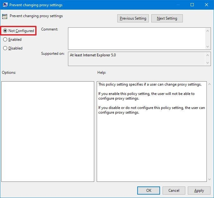 Enable substitute settings on Windows 10 with gpedit