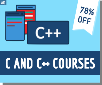 C AND C++ COURSE SQUARE BANNER AD
