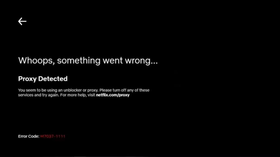 Netflix Proxy Detected